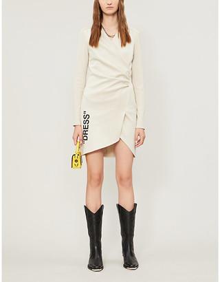 Off-White Fitted V-neck side-split mini dress