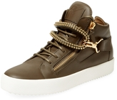 Giuseppe Zanotti Men's Zip Leather Hi Top