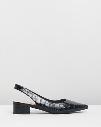 Mollini Themust Mo Leather Slingback Heels