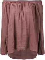 Forte Forte off shoulder top - women - Cotton/Linen/Flax - 1