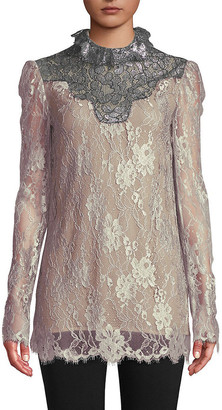 Lanvin Lace Silk Top