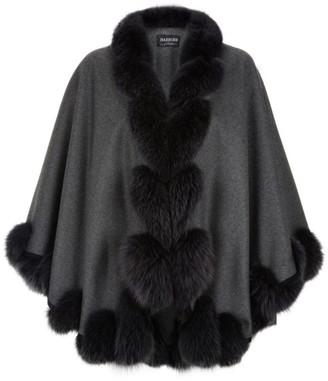 Harrods Fox Fur Spiral Trim Cape