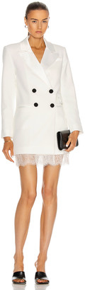 Self-Portrait Tailored Crepe Mini Dress in White | FWRD