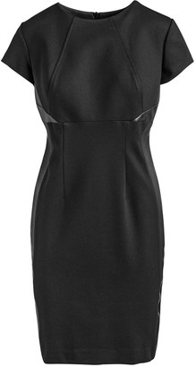 Conquista Short Sleeve Black Dress In Crepe Fabric