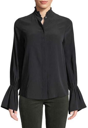 88e3d9e702c83c Ruffle Collar Blouse - ShopStyle