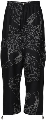 Studio Alch Printed Silk Cargo Pants