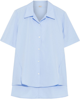 Adam Lippes Trapeze Asymmetric Cotton-poplin Shirt