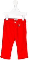 Armani Junior heart logo charm chinos - kids - Cotton/Spandex/Elastane/Lyocell/Modal - 6 mth