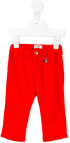 Armani Junior heart logo charm chinos