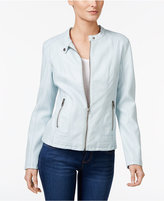 Style&Co. Style & Co Faux-Leather Moto Jacket, Only at Macy's