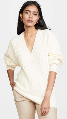 Jason Wu Wool Blend V Neck Sweater