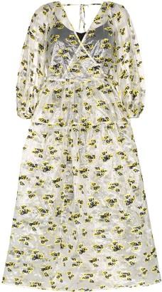 Cecilie Bahnsen Sheer Midi Wrap Dress