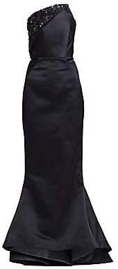 Zac Posen Women's Strapless Embellished Duchess Satin Gown