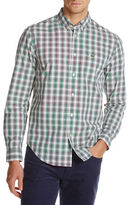Lacoste Poplin Plaid Sport Shirt