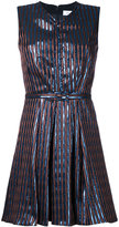 Carven striped sleeveless dress - women - Polyester/Metallized Polyester - 36