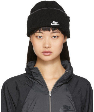 Nike Black Embroidered Logo Futura Beanie
