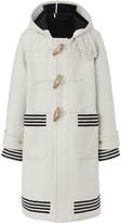 Burberry hooded striped duffle coat