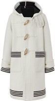 Burberry Hooded Striped Duffle Coat