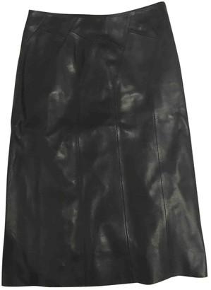 Loewe Black Leather Skirt for Women Vintage