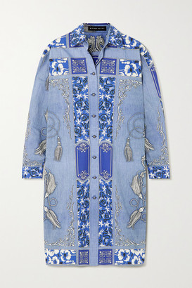 Etro Printed Cotton Shirt Dress - Blue