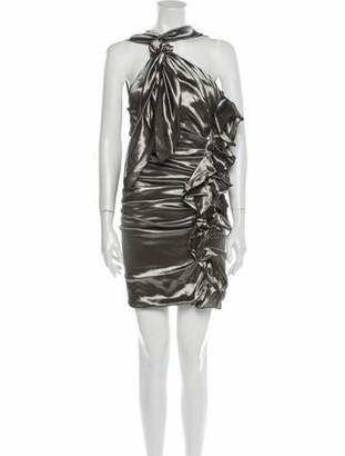 Isabel Marant Printed Mini Dress Silver