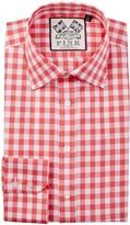 Thomas Pink Slim Fit Gingham Dress Shirt