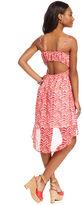 Tempted Juniors Dress, Spaghetti-Strap Printed High-Low