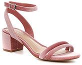 Gianni Bini Waldine Double-Banded Velvet Sandals