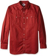 Carhartt Men's Big & Tall Ironwood Twill Work Shirt Snap Front Relaxed Fit