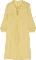 Tomas Maier Washed-satin dress