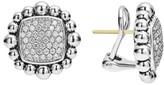 Lagos Women's Caviar Spark Square Diamond Stud Earrings
