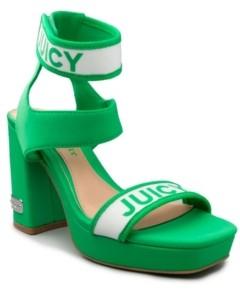 Juicy Couture Women's Glisten Platform Heel Sandal Women's Shoes