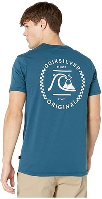Quiksilver Higher Ground Short Sleeve Tee (Majolica Blue) Men's Clothing