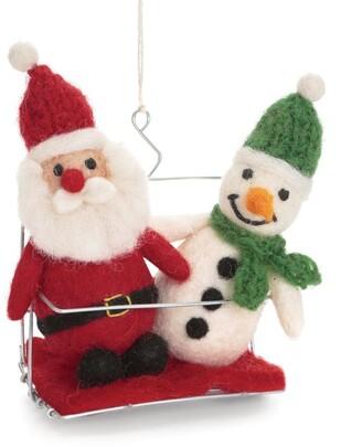 Harrods Felt Snowman and Santa Christmas Decoration