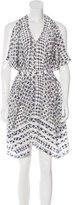 Edun Silk Tribal Print Dress