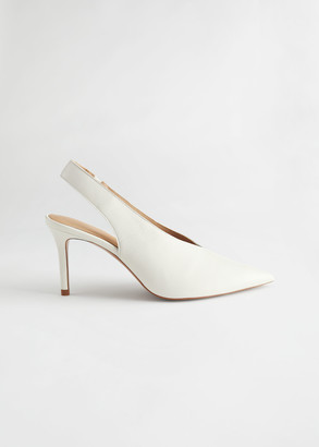 And other stories Pointed Leather Slingback Pumps