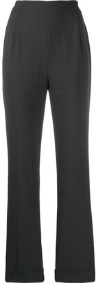 Romeo Gigli Pre-Owned 1998 Pleat Details Straight Trousers