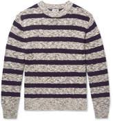 Camoshita Striped Cotton-Blend Sweater