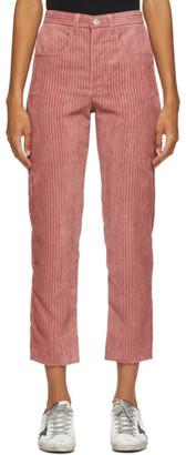 Etoile Isabel Marant Pink Corduroy Beldanae Trousers