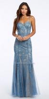Camille La Vie Trumpet Soutache Lace Evening Dress