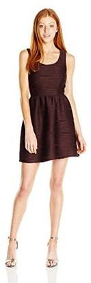 Jolt Women's Sleeveless Wavy Pleat Stretch Knit Dress