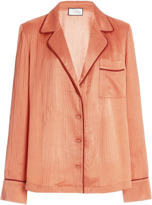 Alexis Orlan Crinkled Satin Shirt