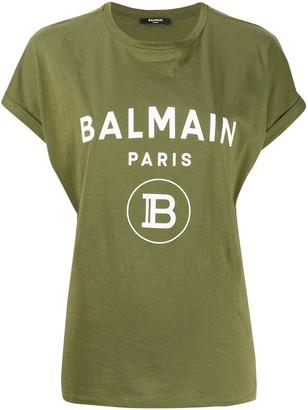Balmain logo print oversized T-shirt