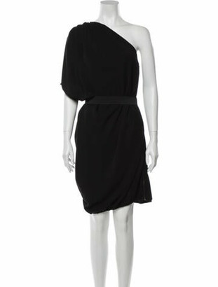 Lanvin One-Shoulder Knee-Length Dress Black
