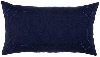 Kosas Home Lucy 100% Linen Embroidered King Sham , Indigo