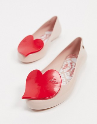 Melissa heart flat shoes in blush
