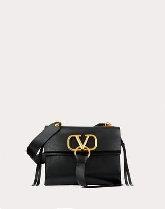 Valentino Garavani Small Vring Buffalo Leather Shoulder Bag Women Black Buffalo Leather 100% OneSize
