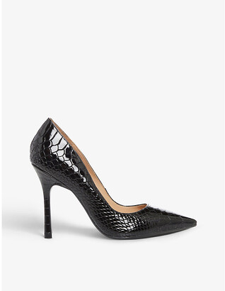 Dune Belaire faux-leather heeled courts