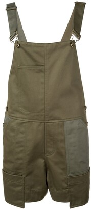 Monse Buckled Strap Dungaree Shorts