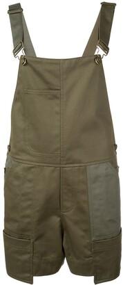 Monse buckled strap dungaree shorts
